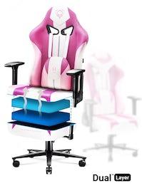 Látkové herné kreslo Diablo X-Player 2.0 Normal Size: Marshmallow Pink/ružová Diablochairs