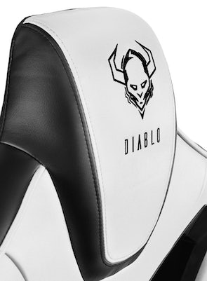 Gaming Stuhl Diablo X-Fighter Normal Size: Schwarz-Weiß