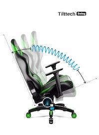 Fotel gamingowy Diablo X-Horn 2.0 Normal Size: Czarno-zielony