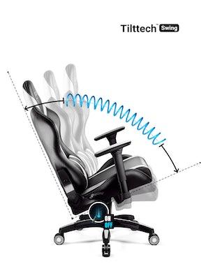 Herní židle Diablo X-Horn 2.0 King Size: Černo-bílá Diablochairs