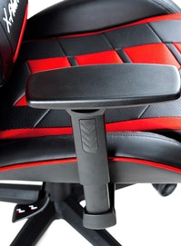Gaming Stuhl Diablo X-Fighter Normal Size: Schwarz-Rot