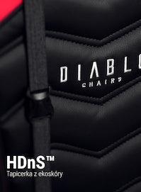Herné kreslo Diablo X-Ray Normal Size: čierno-červené Diablochairs