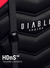 Dětská otočná herní židle Diablo X-Ray Kids Size: černo-červená Diablochairs
