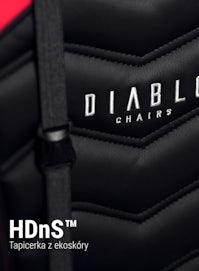 Scaun pentru copii Diablo X-Ray Kids Size: negru-roșu Diablochairs