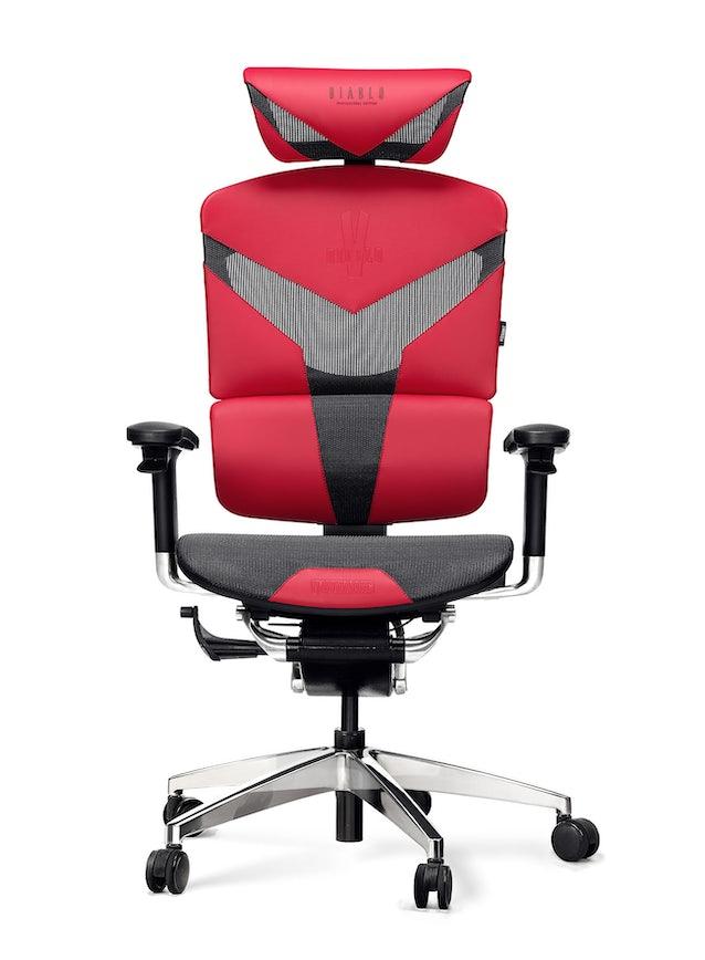 Fotel ergonomiczny DIABLO V-DYNAMIC: karmazynowy