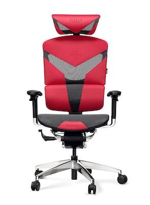Kancelárska ergonomická stolička DIABLO V-DYNAMIC: karmínová Diablochairs