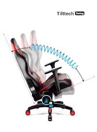 Schreibtischstuhl für Kinder Diablo X-Horn 2.0 Kids Size: Schwarz-Rot