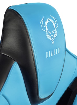 Scaun gaming Diablo X-Fighter Normal Size: negru-albastru Diablochairs