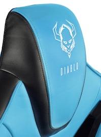 Gaming Stuhl Diablo X-Fighter Normal Size: Schwarz-Blau